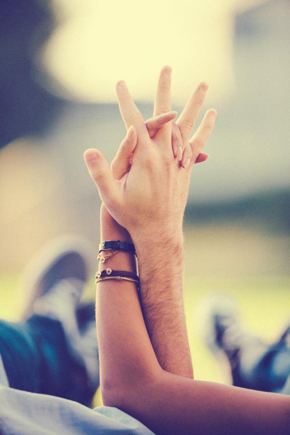 hands holding together