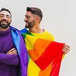gay couple supports LGBT online dating