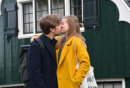 Couple is kissing to develop their sense of sexuality