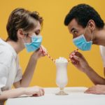 A couple is following cute date ideas during quarantine