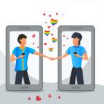 online gay dating apps illustration
