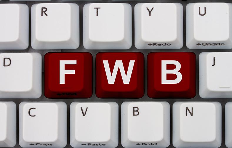 Computer keyboard keys with word fwb, Internet Dating Slang