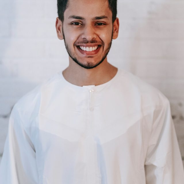 dating a handsome muslim man wearing white thobe