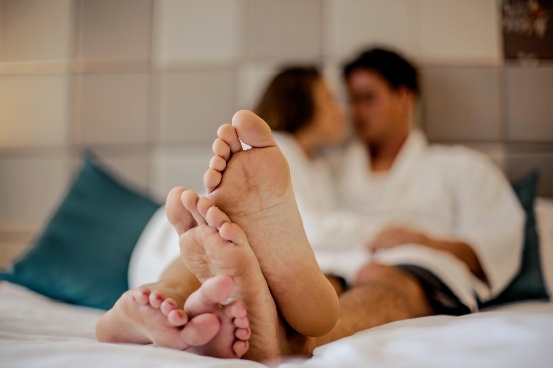 photo of a couple's feet