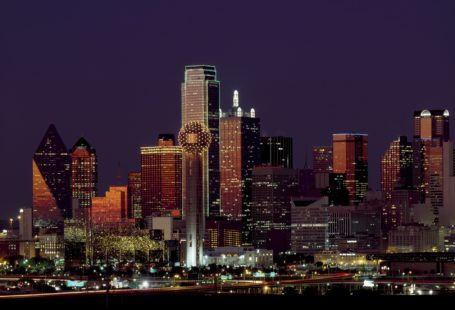 buildings with light Dallas city during night time