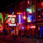 dating in Nashvill, Crowd In Illuminated City At Night